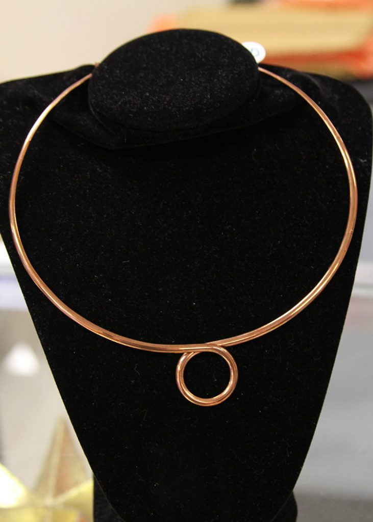 coppercirclenecklace